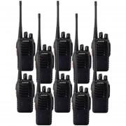 10 Radios Transmisores Walkie Talkie Baofeng 888s + 10 Manos Libres