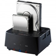 "Xystec Klon-Festplatten-Dock für 2,5""- & 3,5""-SATA-HDDs & -SSDs, USB 3.0"