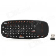 K10-S 2.4GHz Wireless Optical QWERTY Air Mouse espanol - Negro