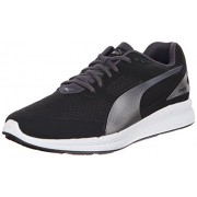 PUMA Men s Ignite Mesh Running Shoe Black / Periscope 8.5 D(M) US