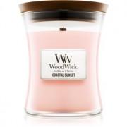 Woodwick Coastal Sunset lumânare parfumată cu fitil din lemn 275 g