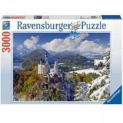 Пъзел Ravensburger 3000 елемента, Замъкът Нойшванщайн през зимата, 705025