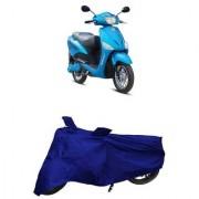 De AutoCare Premium Quality Royal Blue Matty Two Wheeler Scooty Body Cover for Hero Electric Optima