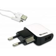 Hálózati töltő, micro USB, univerzális, 1000 mAh, SANDBERG, fehér (SAHT059)