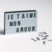 """LA REDOUTE INTERIEURS Leuchtbox """"Xaya"""" zum selbst Beschriften"""