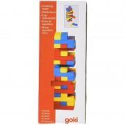 Joc Jenga cu piese din lemn Colori, 45 piese