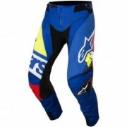 ALPINESTARS Pantalon Alpinestars Techstar 2018 Factory Blue / Red / White / Yellow Fluo