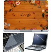 Finearts Laptop Skin 15.6 Inch With Key Guard & Screen Protector - Google Wallpaper