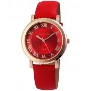 Excellanc pretty piros designbőr szíjas női karóra EX181052TR