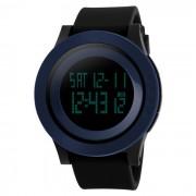SKMEI 1142 LED digital de reloj de pulsera de los deportes - negro + azul (1 * CR2025)