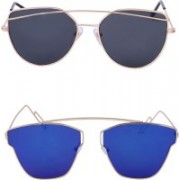 Amour-Propre Retro Square Sunglasses(Multicolor)