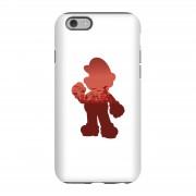 Nintendo Funda móvil Nintendo Super Mario Silueta Mario para iPhone y Android - iPhone 6S - Carcasa doble capa - Brillante