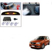 Auto Addict Car Silver Reverse Parking Sensor With LED Display For Maruti Suzuki Alto K10