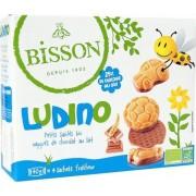 Biscuiti inveliti in ciocolata lapte BIO 160g Bisson