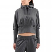 Skins Activewear Women's Spade Light Fleece Hoody - Charcoal Marle - L - Charcoal Marle