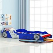 """Sonata Детско легло """"състезателна кола"""", 90x200 cм, синьо"""