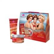 Dermacol Aroma Ritual Apple & Cinnamon Kit 7083 250Ml Shower Gel 250 Ml + Body Peeling 200 G Apple & Cinnamon Per Donna (Cosmetic)