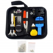 EY 144 Pcs Watch Repair Kit Case Opener Pins Link Remover Spring Bar Tool Set Negro