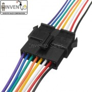 Invento 6pcs - 3 sets 8 pin Male Female 8 wire JST Connector Cable Lock Type for LED Lights DIY Projects