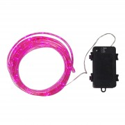 Tuby LED rope light, battery-powered, magenta