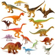 Dinosaur Figure, 3-5 Inch Jumbo Dinosaur Toy Playset(16 pack), Safe Material Assorted Realistic Dinosaur, Fivoendar Vinyl Plastic Dino Dinosaur Set Party Favors Toys For Kids Boys Toddler Educational
