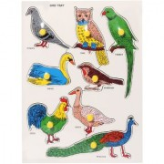KIDS WOODEN PUZZLE - TYPES OF BIRDS
