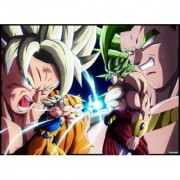 broly vs goku sticker poster|dragon ball z poster|anime poster|size:12x18 inch|multicolor