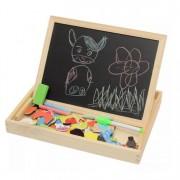 Set Educativ cu Tabla Magnetica, Creta si Elemente Puzzle Colorate pentru Copii
