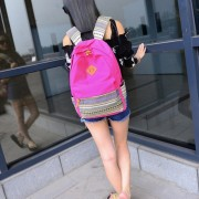 ER Las Alumnas De Escuela Al Aire Libre Satchel Mochila Bolso Mujer Bolsos Con Bandoleras -Rosa