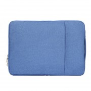 13,3 Pulgadas Moda Suave Denim Bags Portable Universal Laptop Notebook Laptop Funda Con Cremallera Para Macbook Air / Pro, Lenovo Y Otros Laptops, Tamaño: 35.5x26.5x2cm (azul)