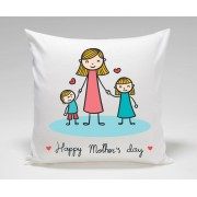 Cute Happy Mothers Day Plush Decorative Cushion
