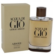 Acqua Di Gio Absolu Eau De Parfum Spray By Giorgio Armani 4.2 oz Eau De Parfum Spray