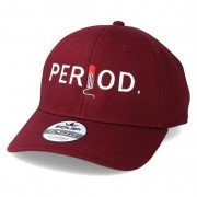 Period Keps Logo Maroon Adjustable - Period - Röd Reglerbar