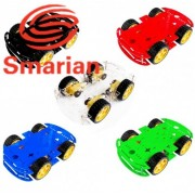 Generic Green : Official Smarian New 5 Colors 4WD Smart Robot Car Chassis Kit for Arduino with Speed Encoder Diy Wheeled Robotic Car Chassis Diy