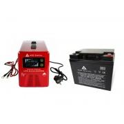 Zestaw zasilania awaryjnego Sinus-600PRO 600W + AKU 40Ah 12V VRLA AGM