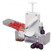 Aparat de scos samburi de prune sau cirese, dublu