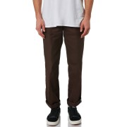 Dickies Polyester Cotton Chocolate Brown Regular Fit Mens Chino Pants