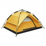 vidaXL Pop up палатка за къмпинг 2-3-местна 240x210x140 см жълта