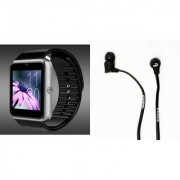 Zemini GT08 Smart Watch and Earphone for LG OPTIMUS L7 II DUAL(GT08 Smart Watch with 4G sim card camera memory card |Earphone )