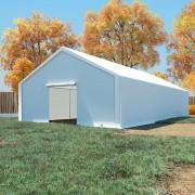 vidaXL Cort de depozitare, alb, 6 x 12 m, PE