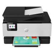 HP Officejet Pro 9019 All-in-One Premium Aluminium Multifunctionele inkjetprinter (kleur) A4 Printen, scannen, kopiëren, faxen LAN, WiFi, Duplex, Duplex-ADF
