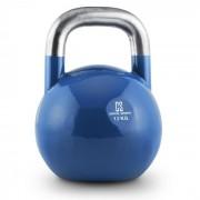 Compket 12 Kettlebell Bola de Peso 12 kg Aço Halterofilia Musculação Exercício Fitness Azul
