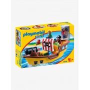 Playmobil 9118 Barco Pirata, 123 Playmobil castanho medio liso com motivo