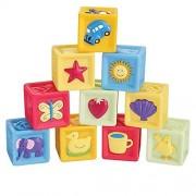 Children Bath toy Soft sweet block Colorful relief blocks