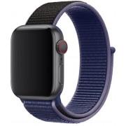 Wotchi Provlékací sportovní řemínek pro Apple Watch - Modrá/Černá 38/40 mm