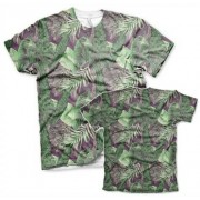 Seamless Tropical Growth T-Shirt, Modern Fit Polyester Tee
