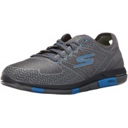 Skechers Men's Go Walk Flex Charcoal/Blue Nordic Walking Shoes - 7 UK/India (41 EU)(8 US)(54011)