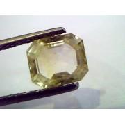 2.49 Ct Unheated Untreated Natural Ceylon Yellow Sapphire/Pukhraj