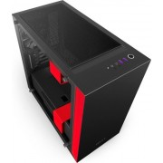 Kućište NZXT H400i Matte Window Black/Red, CA-H400W-BR