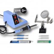 vidaXL 48W аналогова станция за запояване с принадлежности